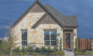 A D.R. Horton patio home in Frisco, Texas, where the Dallas Cowboys practice facility is located.