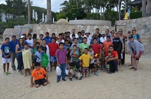 """Forty-one boys from the Casa Hogar Orphanage in Cabo San Lucas enjoyed good food and surfing at the annual """"Carvin' for Kids"""" event."""