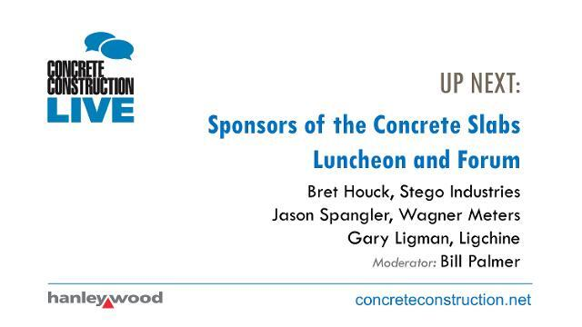 Sponsors of the Concrete Slabs Luncheon and Forum