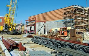 The Caretti team coordinated not only the construction of the load-bearing walls, but also the installation of the precast concrete planks along with other job functions. The efforts saved three months of construction time.