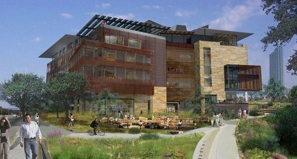 Renderings for Austin's central library.