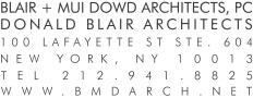 Blair + Mui Dowd Architects Logo