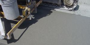 Rheology controlling admixtures (RCA) can be used for placing extruded or slip-formed concrete pavement to provide a better finish with minimal labor.
