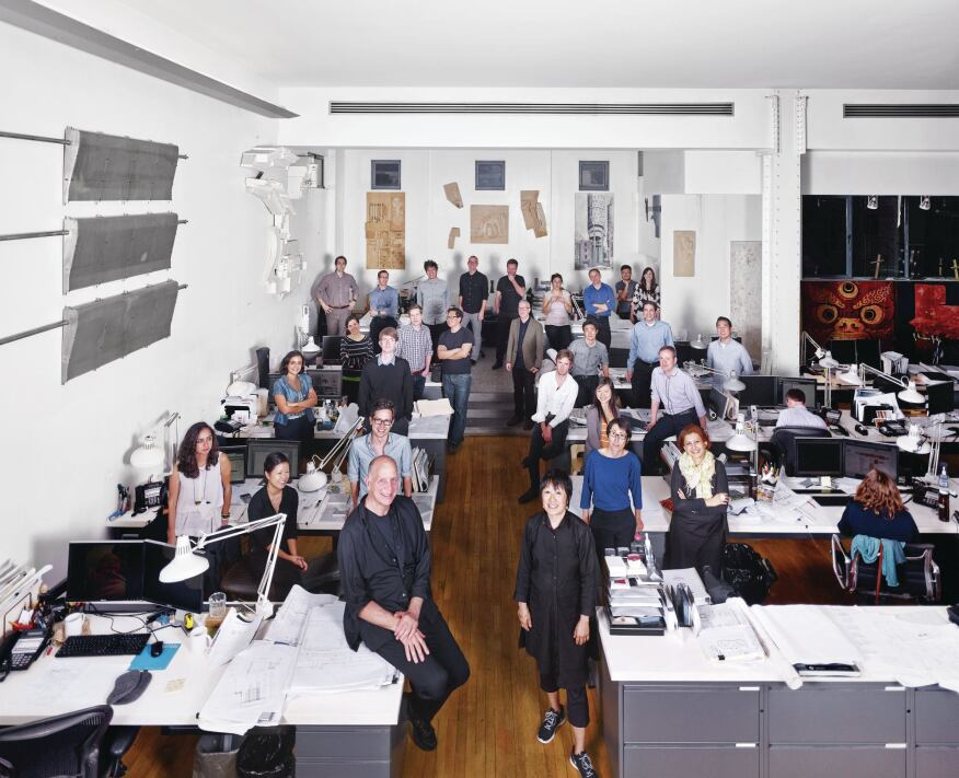 The New York office of Tod Williams Billie Tsien Architecture.