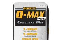 Concrete mix sets fast