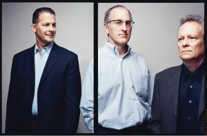 Left to right: Epstein's executive managing directors John Patelski, Jim Jirsa, and Michael Damore