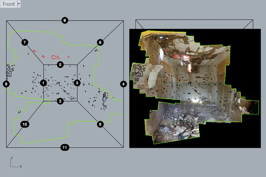 Image from Forensic Architecture's reconstruction of a drone strike in Miranshah, Pakistan