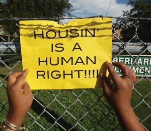 Housing advocates are trying to save this and other public housing projects in New Orleans.