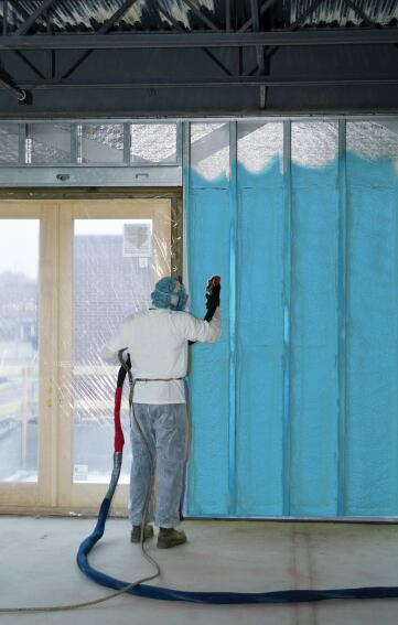 Spray Foam Combats Cold Weather