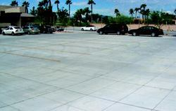 The completed parking lot continues to perform well after six months of service.