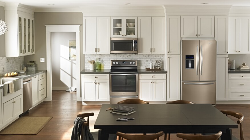 appliances, sunset bronze, painted stainless steel, stainless steel appliances