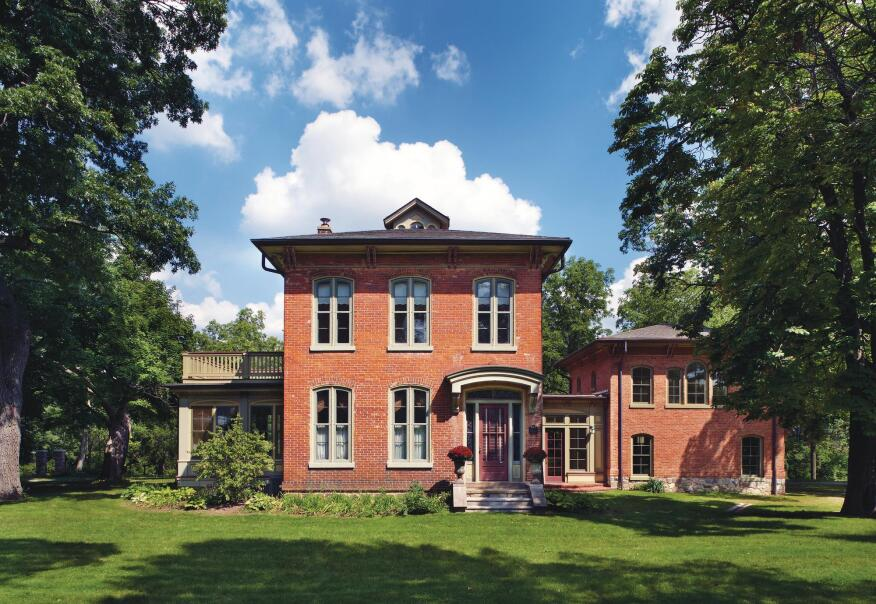 Architect Michael Klement's clients, owners of a landmark 1860s-era Italianate home, have a growing family and wanted more space, an improved entry area, and an attached garage that respected the historic home.