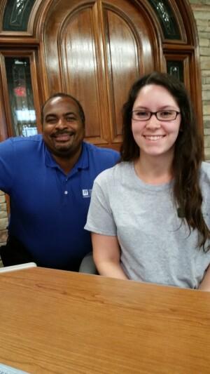 Jeff Faircloth and Emily Trevino of Jim Carpenter Co., Fredericksburg, Va.