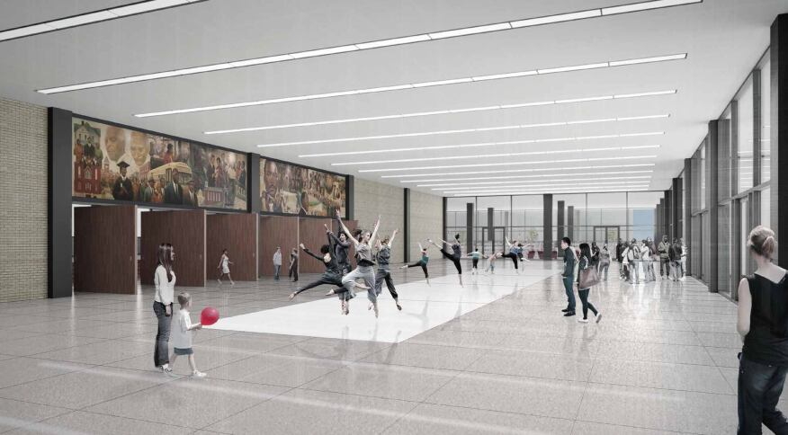 Another proposed renovation option for the Great Hall. (Jan. 2015)