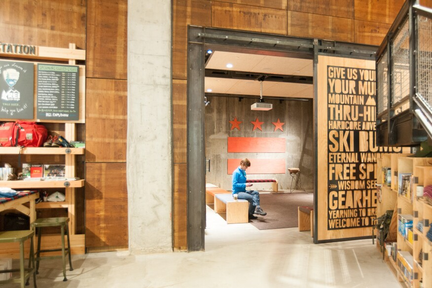Community rooms offer classrooms for REI and event space for local partners.