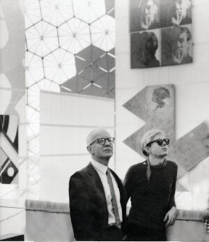 John de Menil and Andy Warhol, 1967 Montreal Expo.