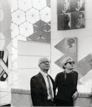 John de Menil and Andy Warhol, 1967 Montreal Expo.