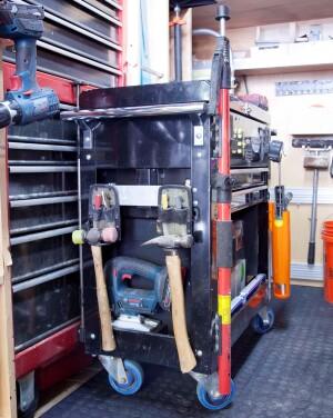 Brian Way's tool cart