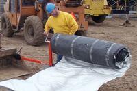 Curing blanket roller