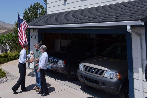 U.S. President Barack Obama meets with homeowners in Reno, Nev., in 2012.