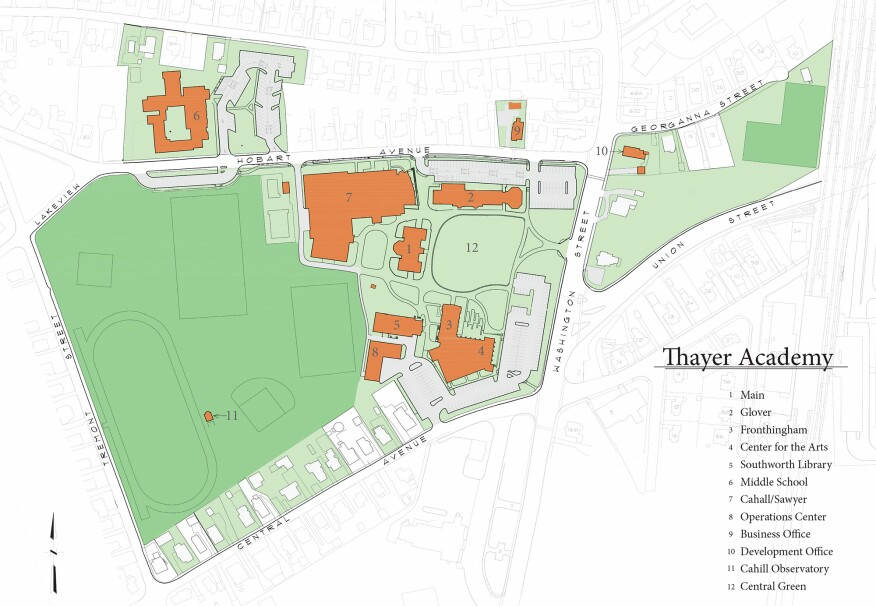 Thayer site plan