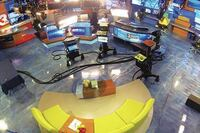 TV Studio gets Metallic Expoxy Floor