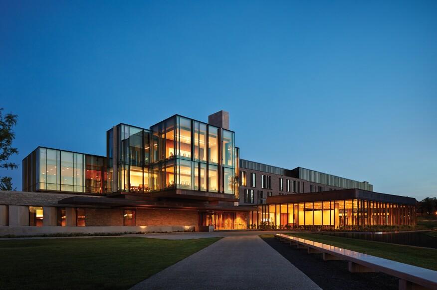 The Richard Ivey Building at dusk