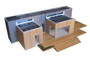 Photovoltaic panels make Tripod a zero-energy home.