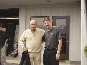Remodeler Ben Morey (right) with mentor and new-home builder Bruce Karatz.