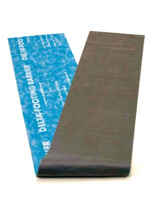 Several municipalities have made full-height basement insulation mandatory. Under these standards, basement walls are sandwiched between vapor barriers on the interior and waterproofing on the exterior, allowing moisture to build up. Delta-Footing Barrier from Cosella-D¶rken Products creates a capillary break between footer and foundation that keeps groundwater from entering and accumulating in basement walls. Able to accommodate the forming of keyways in the footer, the three-ply membrane consists of an antislip surface, an impermeable polyethylene barrier, and a polyester needle-punched fabric for maximum adhesion. cosella-dorken.com