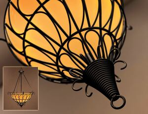 covert switch The technology innovation winner, Chablis-Soleil, features an onboard dimming switch concealed in the decorative final loop that hangs from the pendant's center. The dimmers twist to turn the lamp on and then slowly increase the brightness o