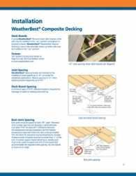 Figure 1. For the most part, composites can be screwed down just like wood. However, tighter joist spacing may be required, special screws are available, and you generally need to consider the material's movement along its length, not its width. Most manufacturers have installation guidelines on their Web sites.