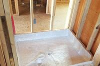 Making a Fiberglass Shower Pan on Site