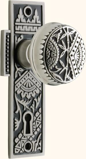 Ornamentation is welcomed in certain applications. This Eastlake interior door knob—a popular late 1800s design that was a fixture of the 1897 Sears catalog—proves it. Named for British architect Charles Locke Eastlake and resurrected by Portland, Ore.-ba