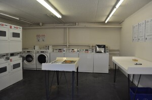 The same common-area laundry room before its renovation.