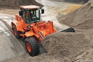 As an alternative to using cash reserves to purchase equipment such as this wheel loader, tax-exempt municipal leases can usually be structured with flexible payment terms to meet the individual needs of government bodies.
