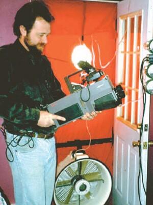 A blower door test evaluates a home's airtightness.