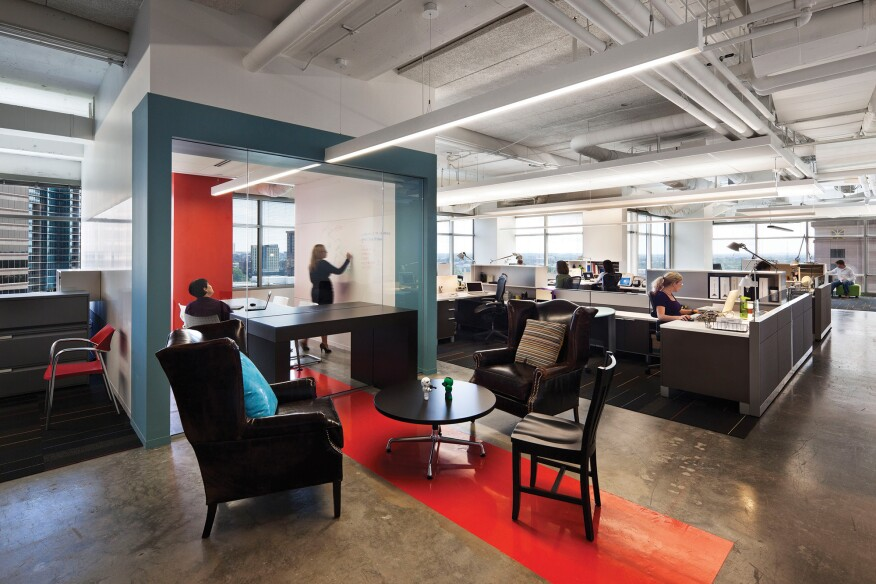 Gensler used its Workplace Performance Index to determine the effectiveness of the 22squared office in Atlanta.