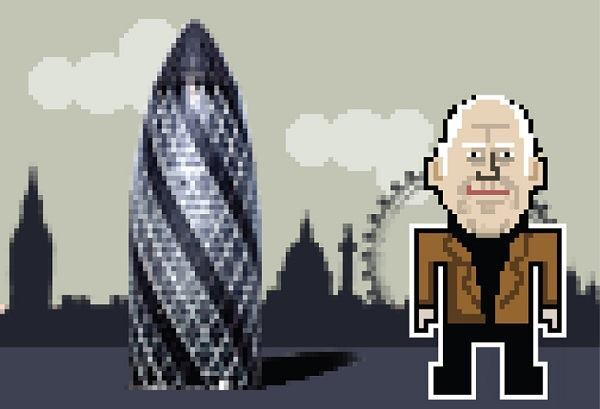 Norman Foster, with the Gherkin Tower.