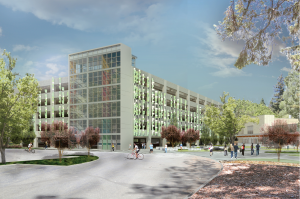 CSUS parking structure rendering