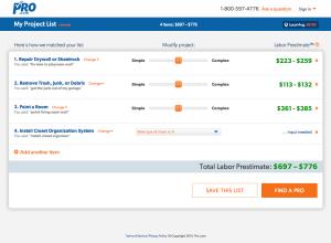 Pro.com screenshot