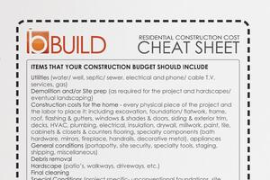 Get Real: Construction Cost Cheat Sheet for Clients