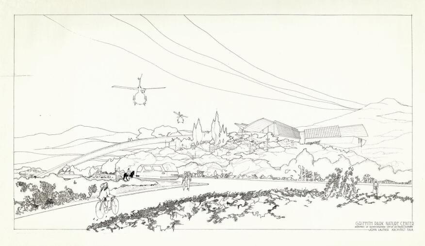 John Lautner's unbuilt 1972 Griffith Park Nature Center.