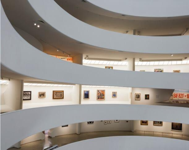 Installation view:Italian Futurism, 1909–1944: Reconstructing the Universe, Solomon R. Guggenheim Museum, New York, February 21–September 1, 2014.