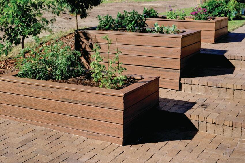 Well Contained Planter boxes make for a prettier backyard and provide a sunny spot to grow vegetables or cut flowers.