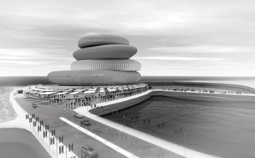 The Busan Opera House targets the issue of stacking, in order to consolidate multiple performance facilities in one area. For stage functions and structural stability, a cylinder was included to promote vertical mobility within the building.