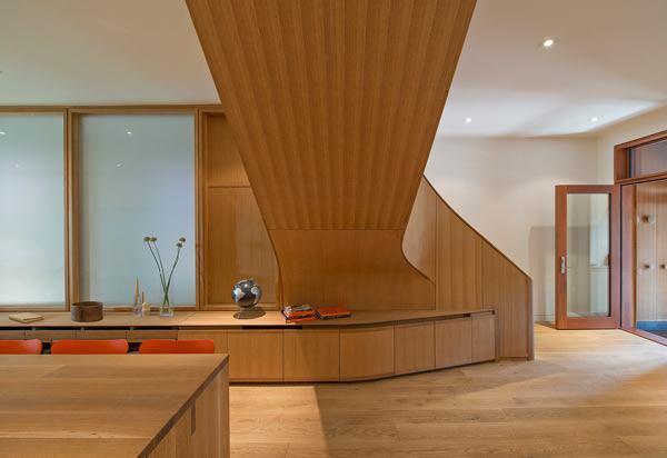 Wood stair volume.
