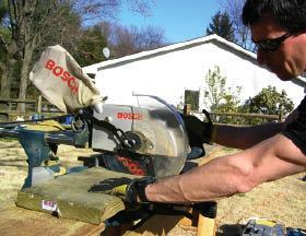 Figure 2. It takes a little extra time in the morning to set up a miter saw, but it pays dividends of fast and accurate cuts all day long.