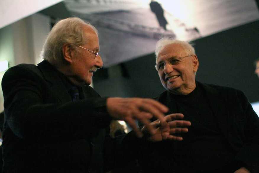 Parent with Frank Gehry in 2010