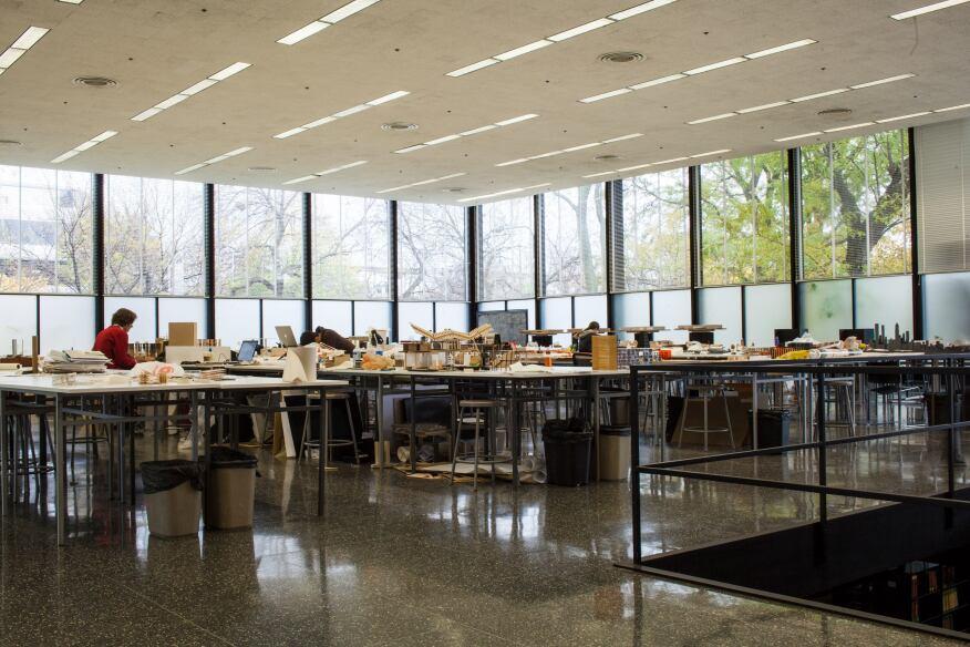 Interior workspaces.